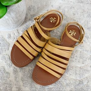Tory Burch Patos gladiator strappy sandals blond